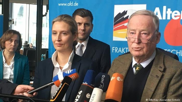 DW/Kay-Alexander Scholz |أليس فايدل وألكسندر غاولاند يقودان الكتلة البرلمانية لحزب البديل في البرلمان الألماني، أرشيف