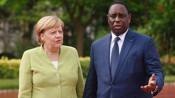 Angela Merkel et Macky Sall à Dakar, le 28 août 2018. Crédit : Reuters