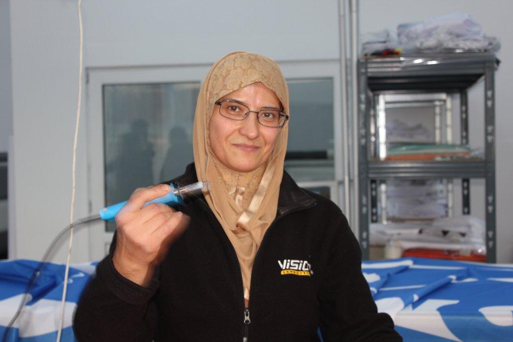 فاطمة واعظ، لاجئة سورية في رومانيا. C. Al Malaika