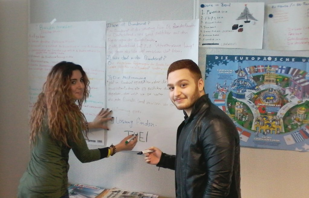 Laila from Syria and Ammar from Iraq © Frankfurt University of Applied Sciences
