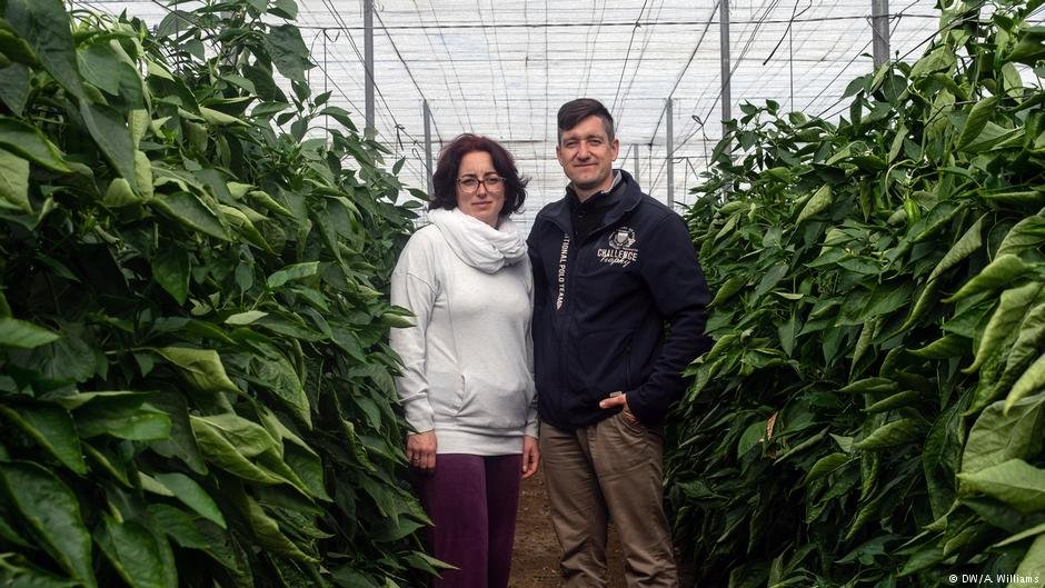 Lidia Martinez Walbrecht and Tobias bel say farmers have a tough time making a living  Photo DWAWilliams