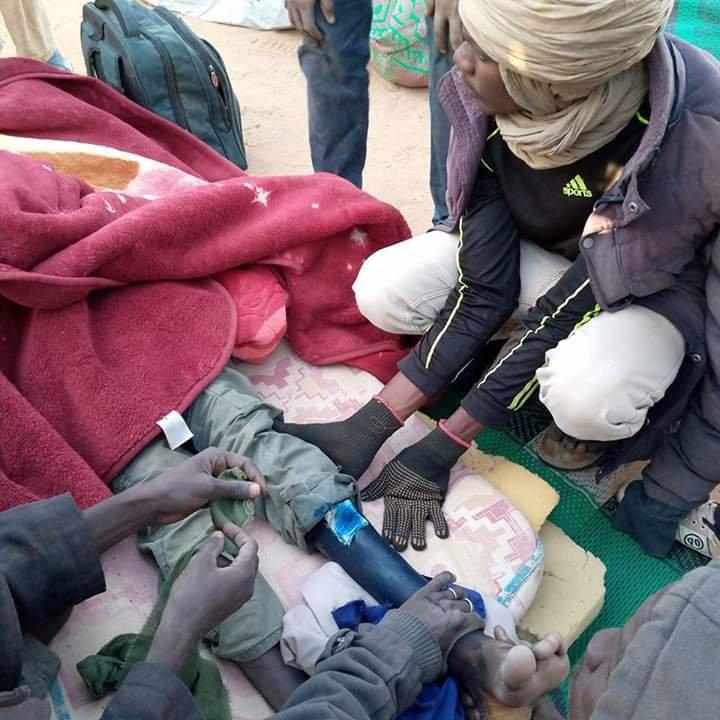 Plusieurs blessés attendent toujours d'être pris en charge, d'après les témoignages reçus par InfoMigrants. Crédit : DR