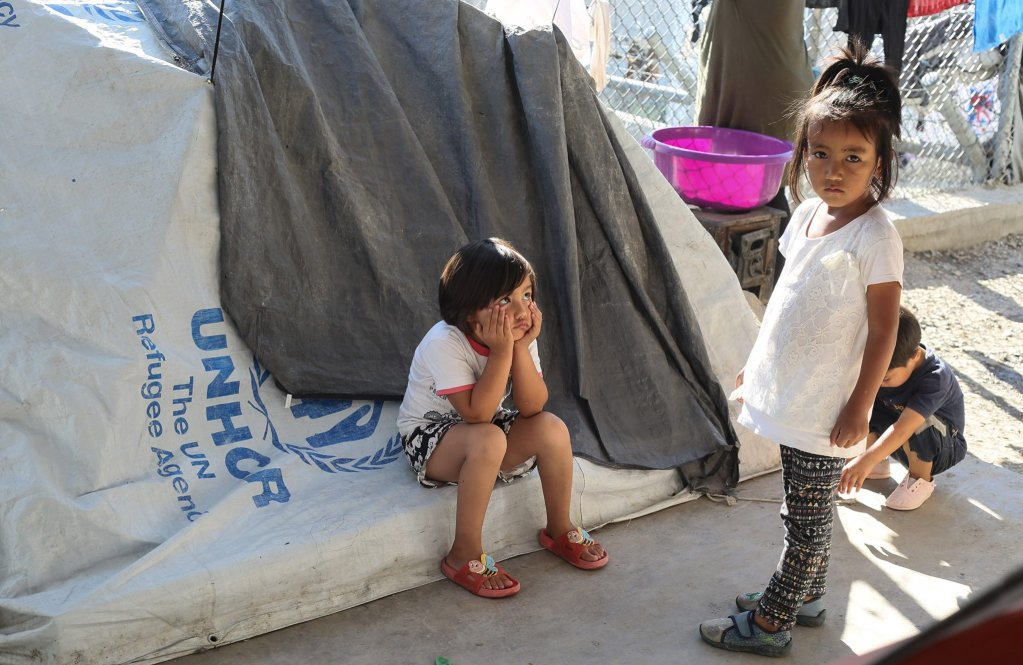 Children in Moria camp Greece  Credit Sarah Sammya Anfis