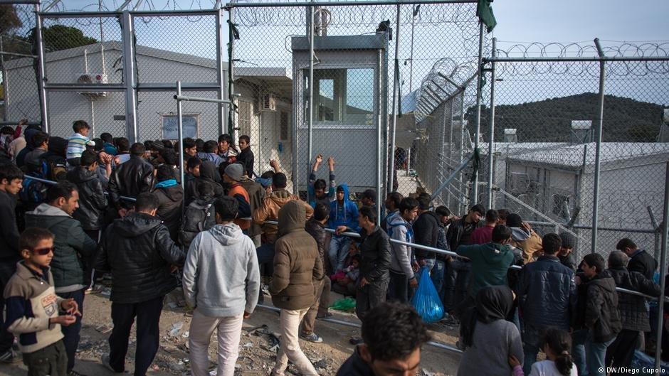 the Moria camp on the island of Lesbos is seriously overcrowded | Credit D. Cupolo/DW
