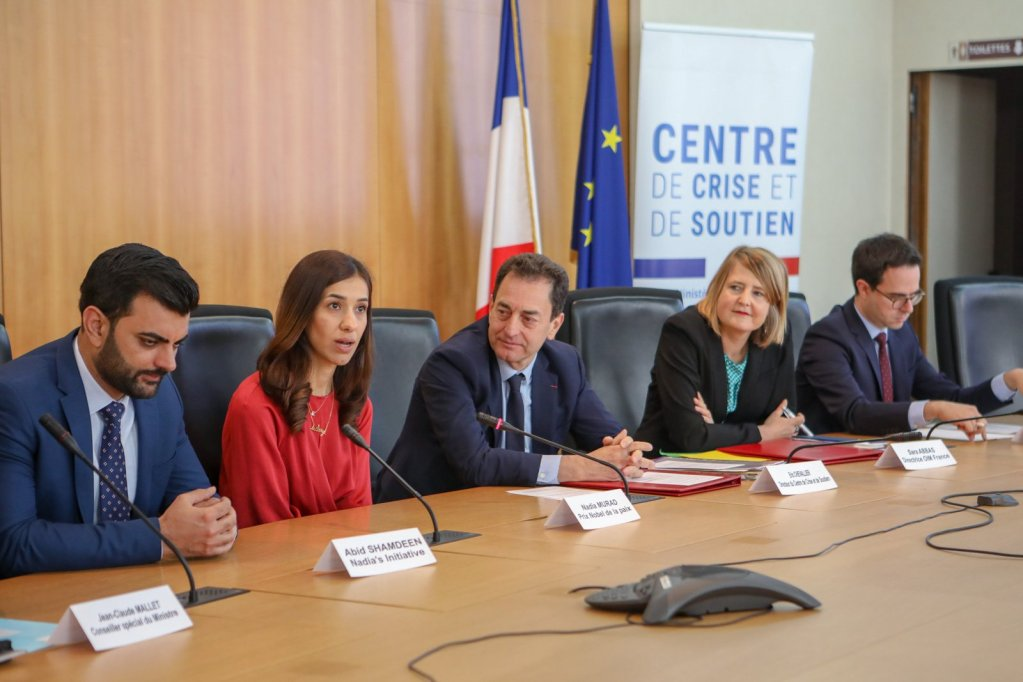 Nadia Murad attended a signing ceremony between the IOM and the French Government in Paris in May  Source IOM