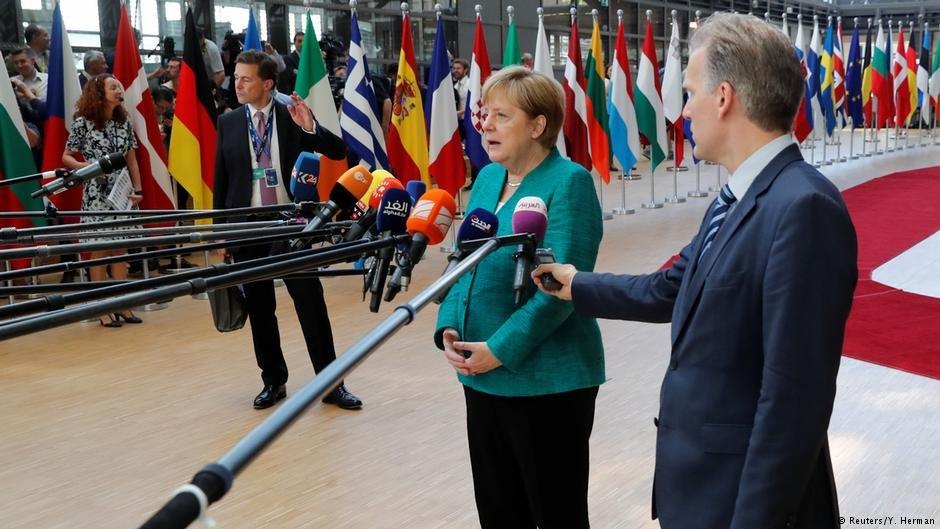 انگلا مرکل صدراعظم آلمان در بروکسل