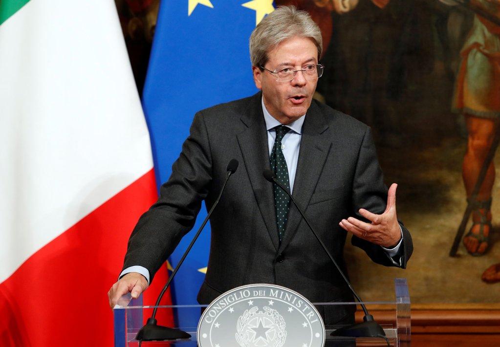 Paolo Gentiloni, chef du gouvernement italien. Crédit : REUTERS/Remo Casilli