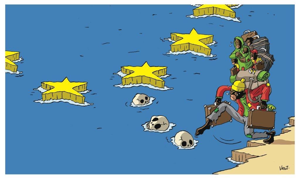 """الرسام فدو من بلجيكا. حقوق الصورة: """"رسوم من أجل السلام"""""""