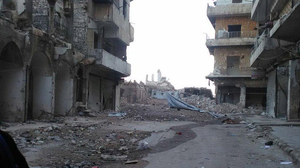 La maison dAya  Alep dtruite Crdit  Joude Jassouma