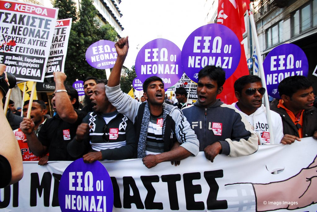 Bangladeshi workers in Greece protest working conditions treatment in the country | Photo: Imago
