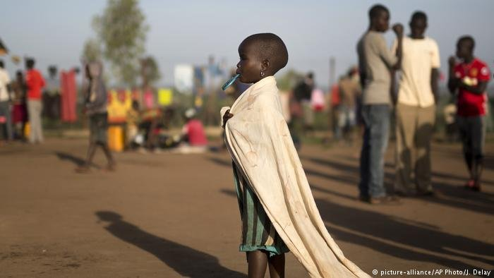 South Sudanese refugees in the Kuluba camp in Uganda
