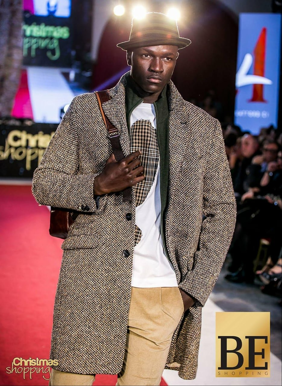 Ismail Drammeh is starting a career as a model (All photos from Facebook)