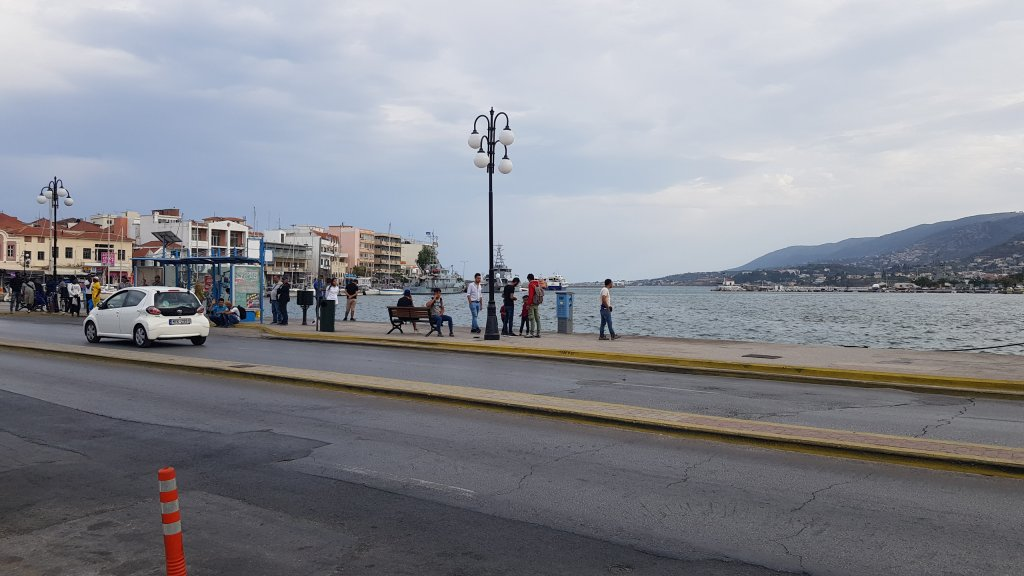 Area around the harbour in Mytilini Lesbos   Photo Aasim Saleem