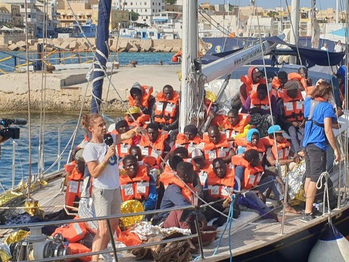 The southern Italian island of Lampedusa has become a regular landing spot for migrants coming from North Africa in recent years | Photo:  Mediterranea