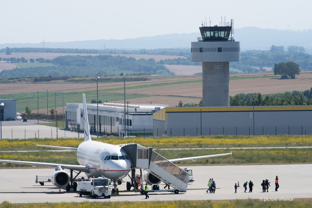 Migrants arrive at Kassel airport in Germany on July 24 2020 from Greece The German government agreed to bring a number of sick children and their families or guardians to be given shelter in Germany  Photo picture-allianceS Pfoertner