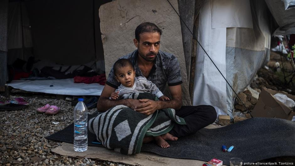 Conditions for refugees on the Greek islands as here on Lesbos can be dire  Photo picture-alliancedpaA Tzorzinis