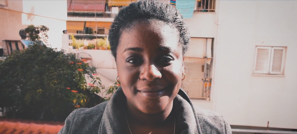 Carmen from Congo is one of the inhabitants of the Athens Housing Collective She says Joseph has a big heart  Source Screenshot Safe Place International