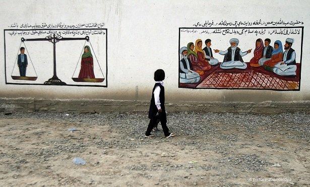 Selon ces dessins les hommes et les femmes sont gaux en Afhanistan Photo picture allianceAllauddin Khan