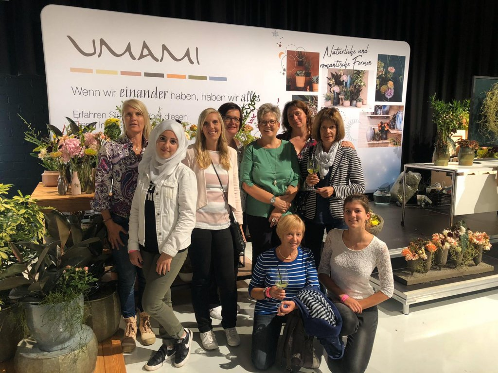 Mayaz has attended lots of events and helped out with Manu and her team   Photo: Private with kind permission of the Blumenbinderei, Furth