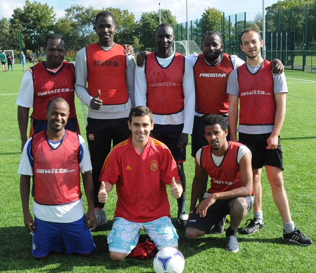 In Middlesborough Ahmad played with a team of asylum seekers and refugees  Photo IOM