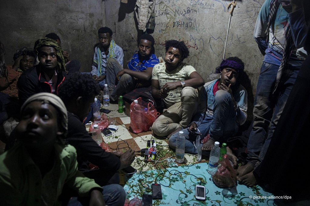 Ethiopian migrants take shelter in a small shack at a Qat market in Dhale province which is one of the stops where migrants take shelter to continue their journey to Saudi Arabia  Photo picture-allianceAP PhotoNariman El-Mofty