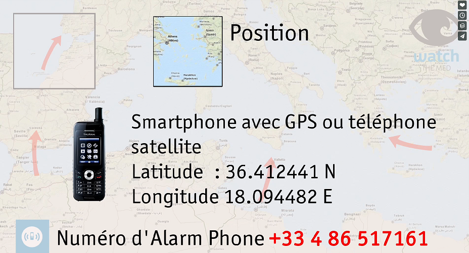 Alarm Phone alerte les autorits afin de dclencher des oprations de sauvetage Capture dcran