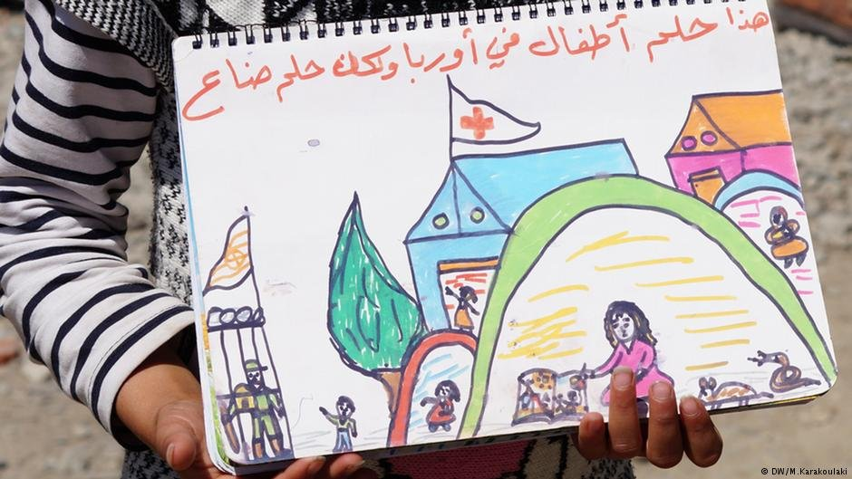 This is the childrens dream of Europe but its lost now A Syrian girl in a refugee camp in Greece