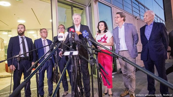 Seehofer said the deal allowed him to back off from his offer to resign