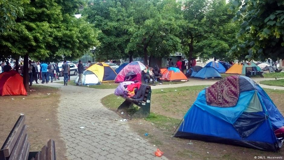 Migrant camps have sprung up across the country, even in the heart of the capital, Sarajevo