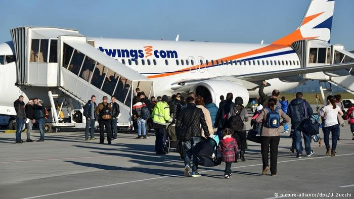 A deportation flight from Germany