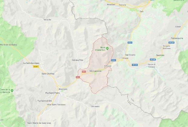 La commune de Montgenvre dans les Hautes-Alpes