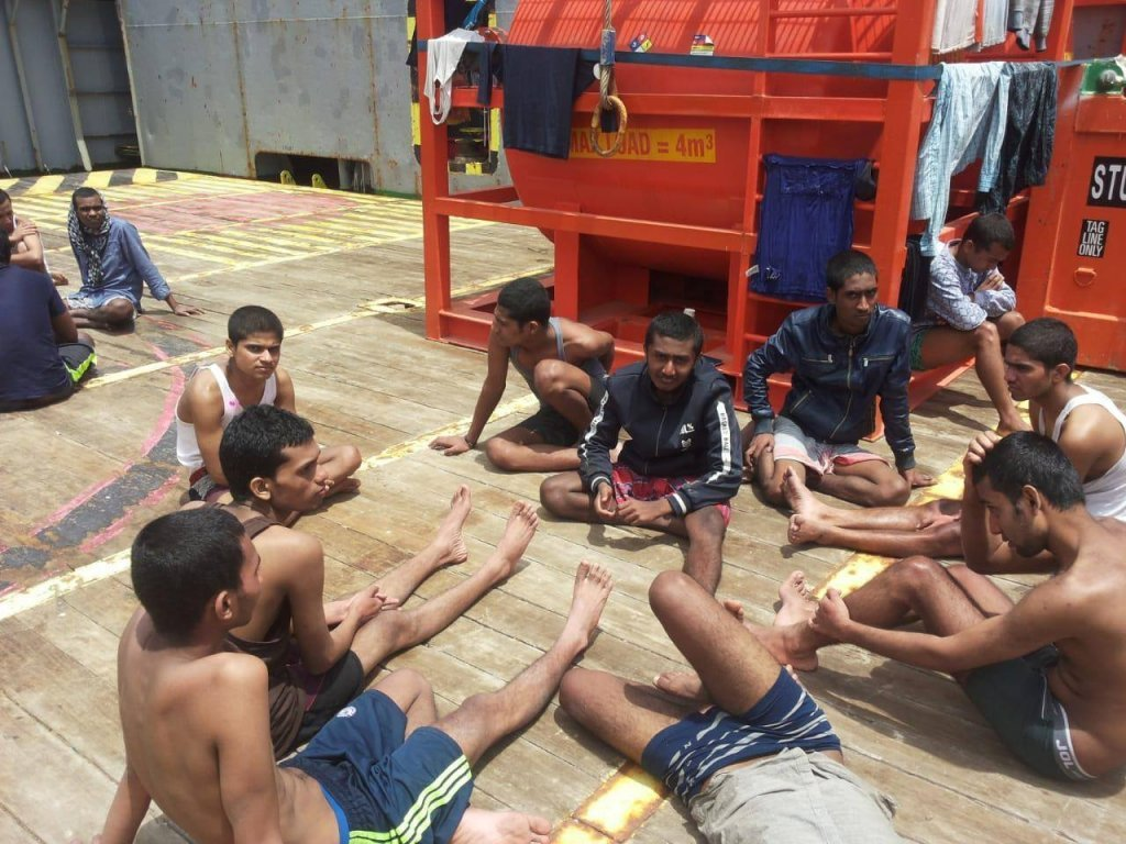 The migrants rescued on May 31 2019 have been stranded for over one week  Photo Private
