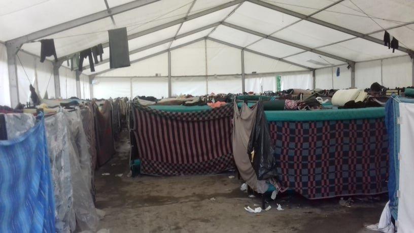 کمپ مهاجران در ساراییوو، می ۲۰۲۰. عکس از  حامد آرمان