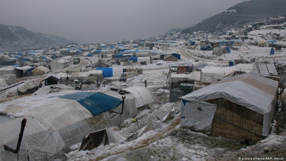 An view on a refugee camp during a freezing cold day in Idlib Syria on February 13 2020  Photo Picture-allianceAAHHarrat