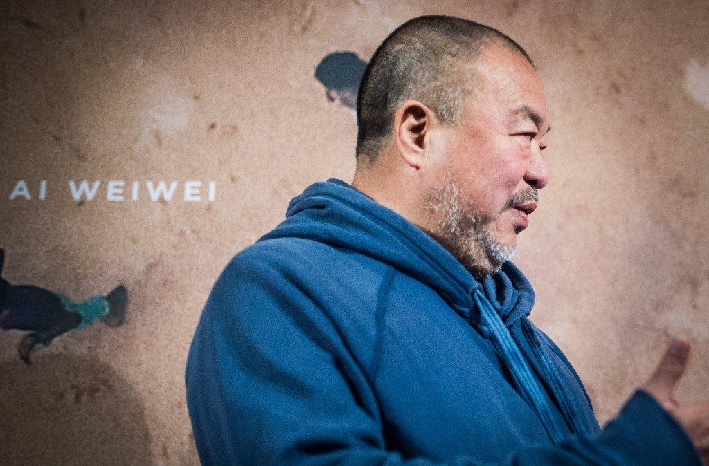 Sophia Kembowski / dpa / AFP |L'artiste chinois Ai Weiwei lors de la présentation de son film «Human Flow» le 7 novembre 2017 à Berlin, en Allemagne.