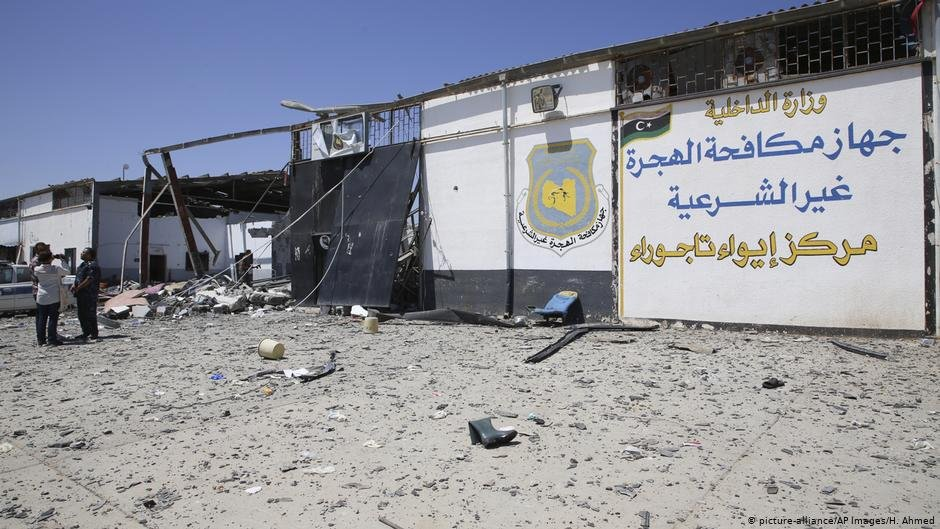 Tajoura detention center after the airstrike July 3 2019  Photo H Ahmedpicture-alliance