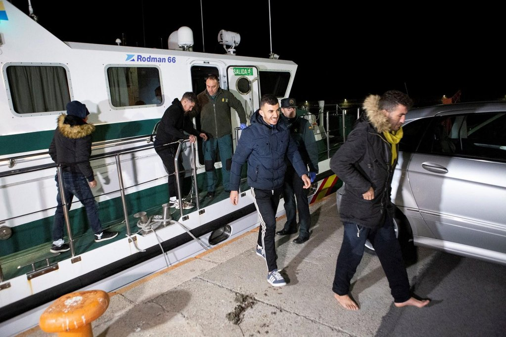 Migrants rescued at sea in Motril, Andalucia, Spain. They were rescued at sea as they were trying to reach Spanish coasts.Credit: EPA/MIGUEL PAQUET