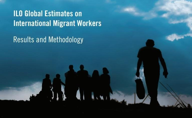 The logo of the 'Global Estimates on International Migrant Workers' study by ILO. Credit: ILO