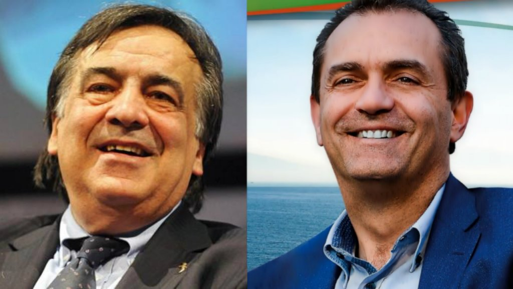 رئيس بلدية باليرمو ليولوكا أورلاندو، ورئيس بلدية نابولي ولويجي دي ماجيستريس | المصدر: لقطات من فيسبوك