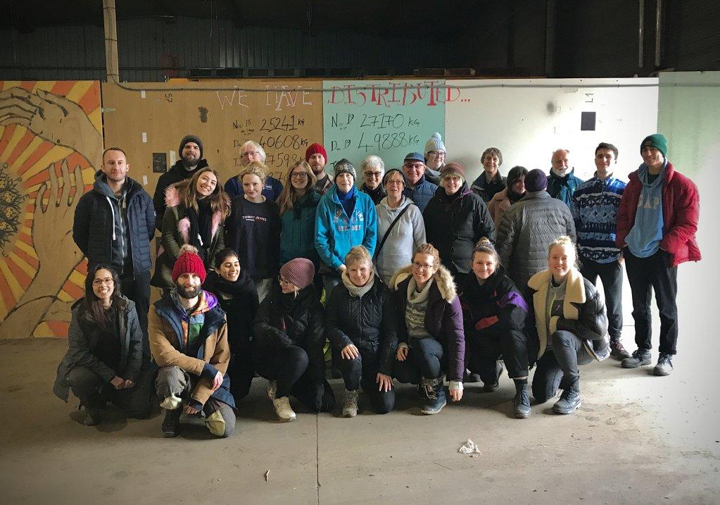 The Cambridge Convoy Refugee Action Group in Calais  Photo Courtesy of Sol Escobar