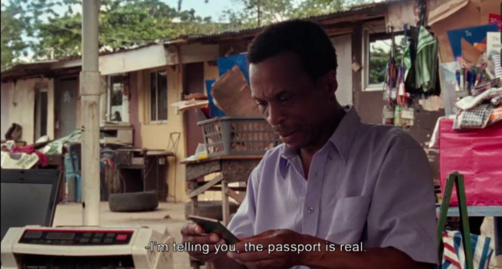Mofe has to jump through lots of hoops in order to obtain a passport and then visa to get overseas  Source Screenshot from Eyimofe a film by Arie and Chuko Esiri