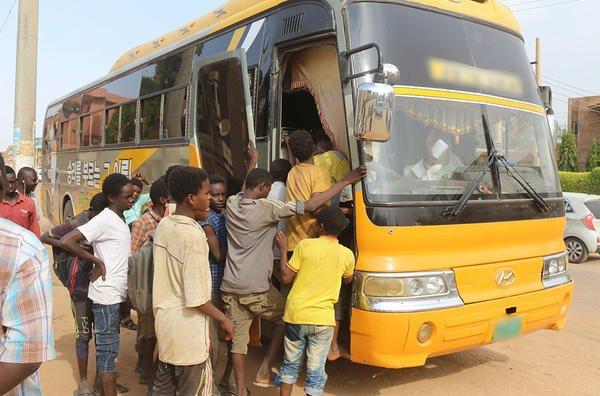 Une partie des enfants-esclaves secourus lors de l'opération Sawiyan. Crédits : Interpol