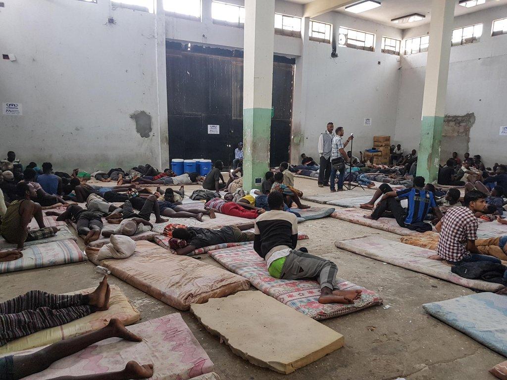 ANSA / مركز احتجاز المهاجرين في الزاوية، على بعد 30 كيلو مترا من العاصمة الليبية طرابلس. المصدر: أنسا/ زهير أبو سريويل.