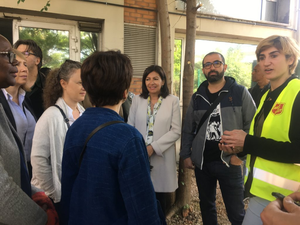 Pariss Mayor Anne Hidalgo visited the centre on May 31  Photo Leslie Carretero