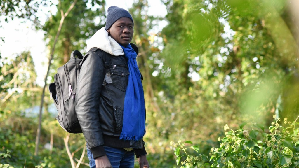 Hamdan 25 from Darfur had his asylum application rejected by France He arrived in Calais 12 days ago with the hope of one day crossing the Channel to Britain He has no tent and sleeps in the streets Photo Mehdi Chebil