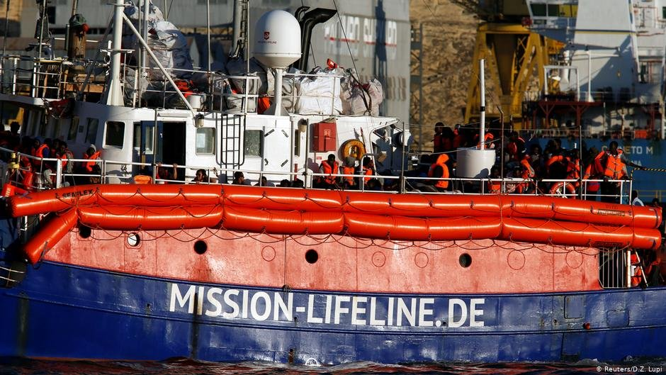 The original Mission Lifeline boat remains docked in Valetta | PHOTO: Reuters/D.Z.Lupi