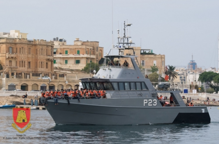 Screenshot of Maltese Navy vessel from the website of Malta Today