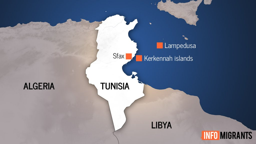 The bodies of the drowned migrants from sub-Saharan Africa were recovered near Kerkennah Islands off the coast of Tunisia