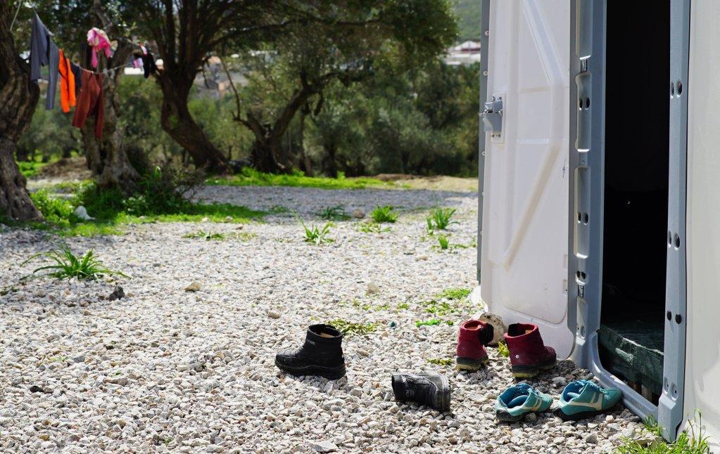 Kara Tepe transit site Lesbos Greece 2016  Credit  Better Shelter
