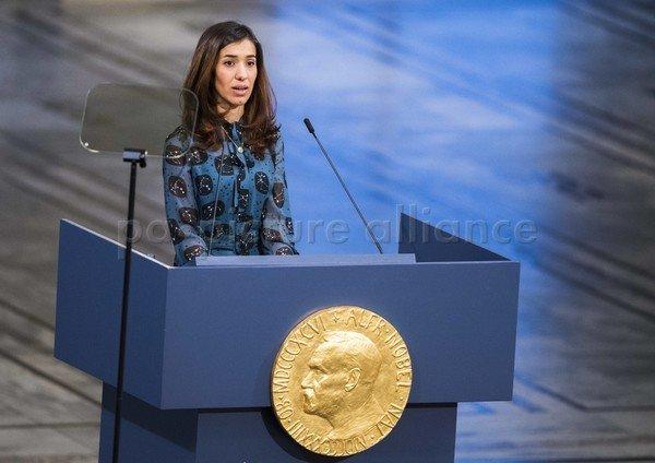كلمة ناديا مراد  في حفل تسليمها جائزة نوبل للسلام